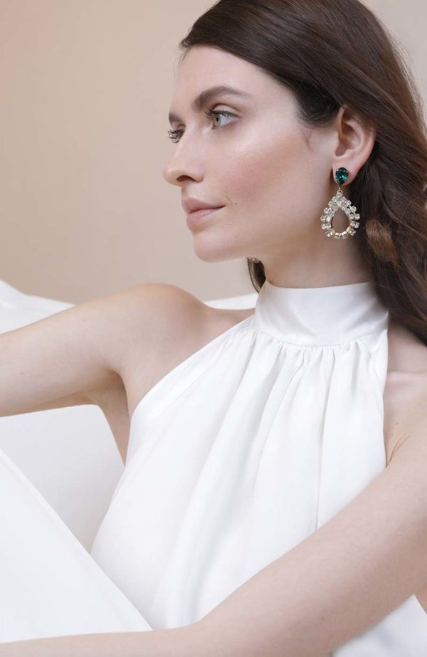 Bridal emerald earrings - Love Is Like A Rose Paris
