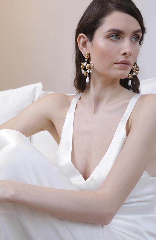 Bridal hoop earrings - Love Is Like A Rose Paris