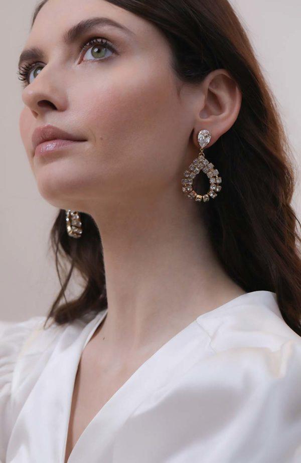 Bridal teardrop earring - Love Is Like A Rose Paris