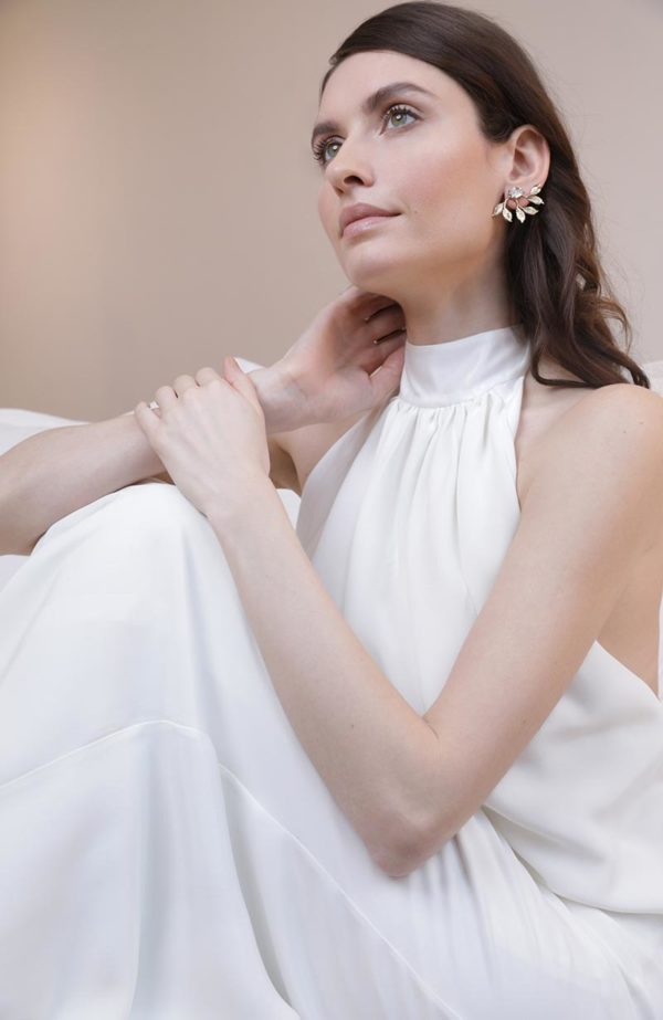 Bridal unique earrings - Love Is Like A Rose Paris