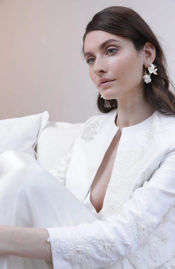 Golden hoop bridal earrings - Love Is Like A Rose Paris