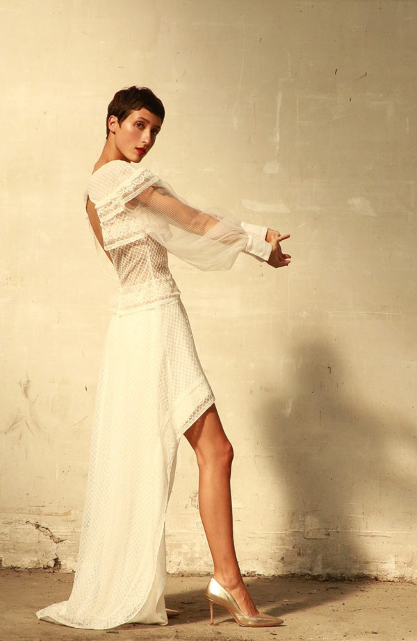 Unique long sleeve wedding dress - Love Is Like A Rose Paris