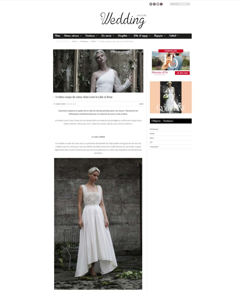 Wedding Magazine avril